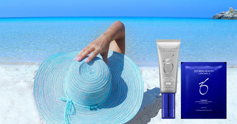 ZO solkrem med 10% rabatt og ZO Brightening Sheet Masque med på kjøpet