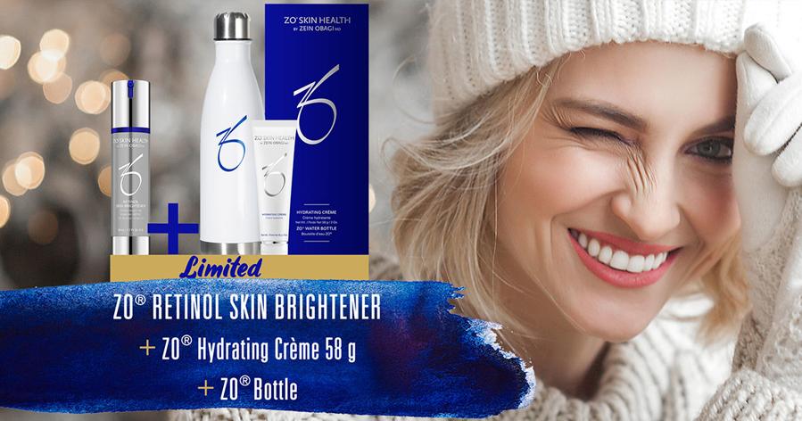Kjøp ZO® Retinol Skin Brightener - Få lekker ZO vannflaske og Hydrating Crème! (LIMITED EDITION)